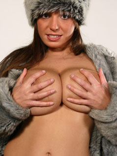 Woman Holding Boobs